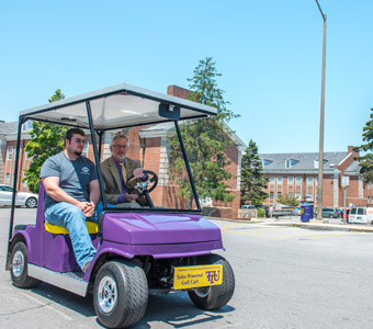 Four engineering students design solar golf cart for TTU's Oldham