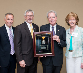 Tom Hudson awarded TBR Chancellor's Award for giving and service to TTU