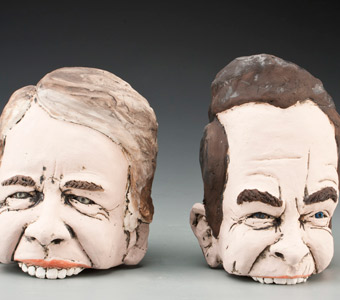 Political caricatures show comes to Center for Craft