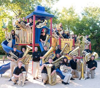 TTU tuba ensemble in concert April 20