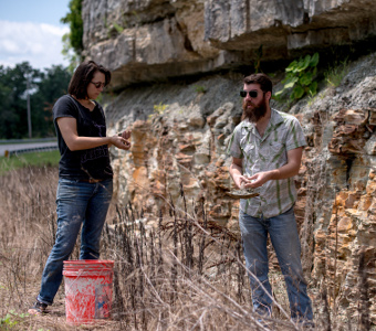 Digging for craft – two TTU artists experiment with 'wild clay'