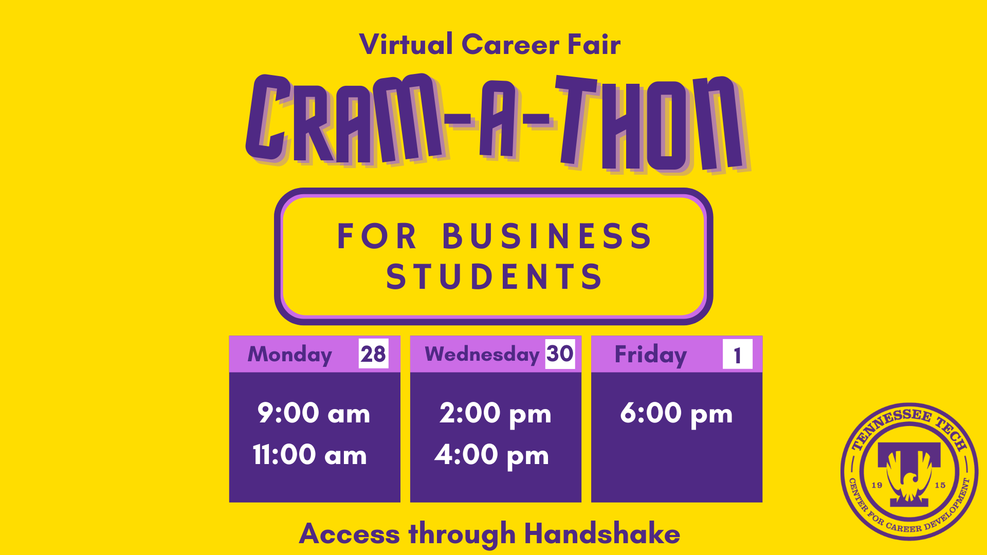 Cram-A-Thon for Business Majors