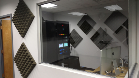 Photo of recording booth