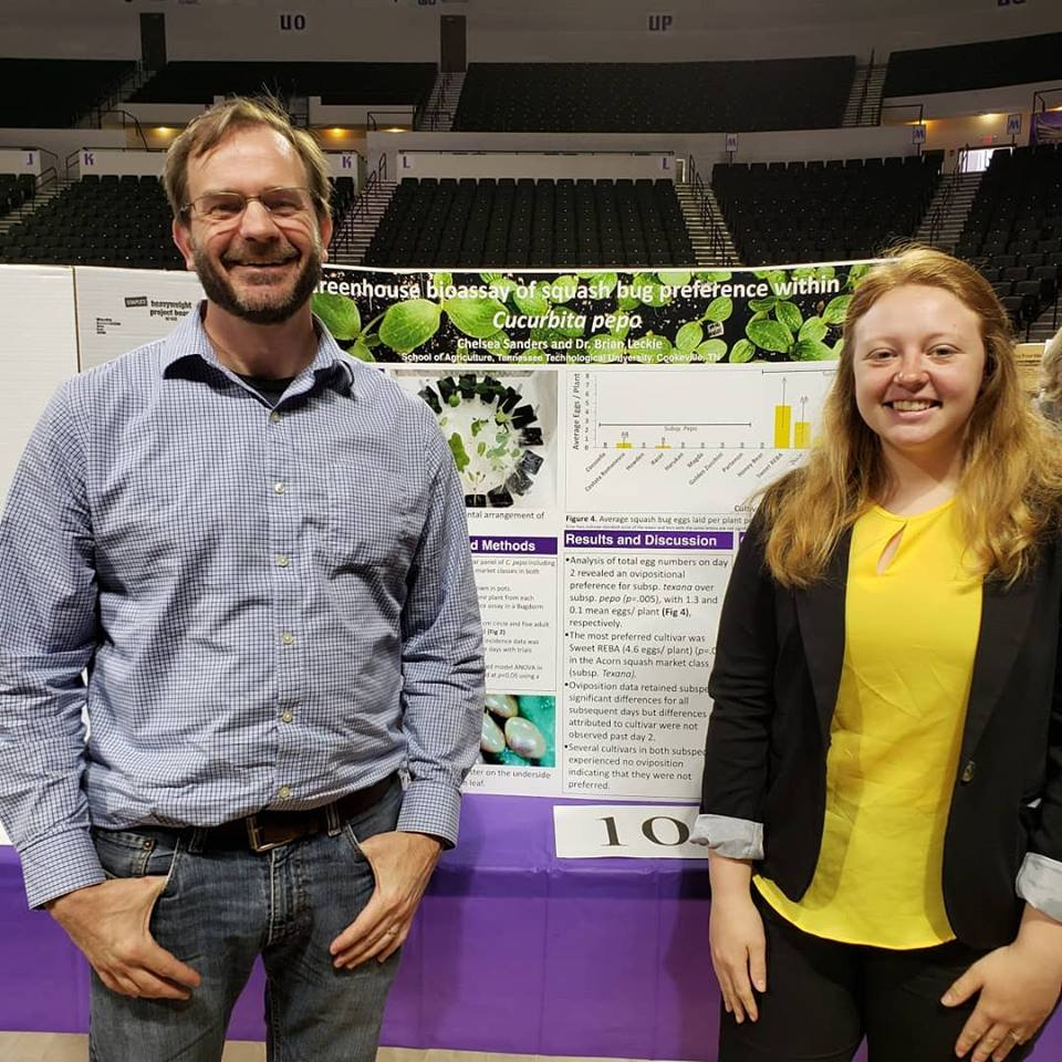Dr. Leckie and Chelsea Sanders present at the student research day