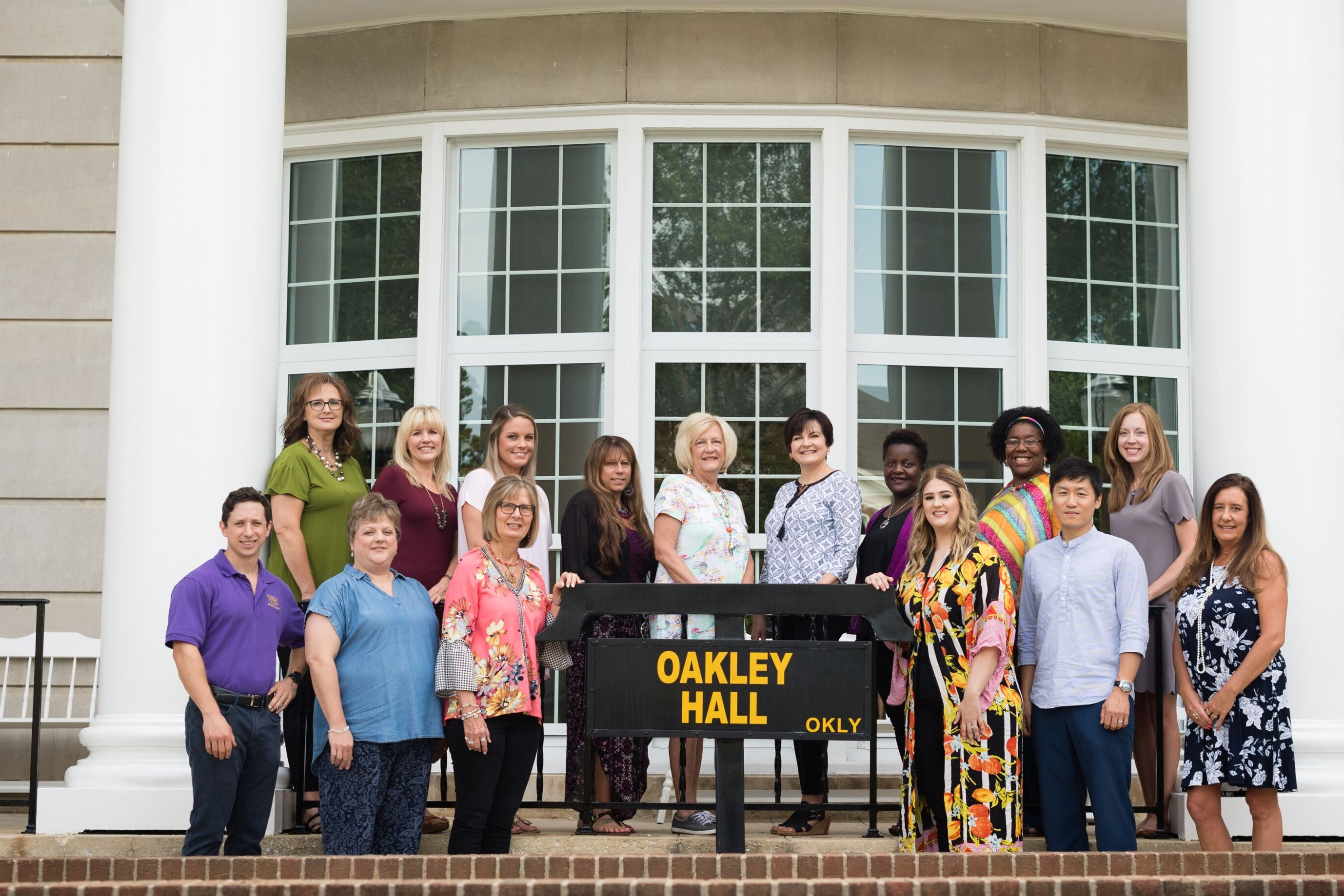 hec fac and staff in front of Oakley