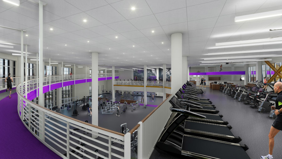 Fitness 2nd level cardiovascular area and track