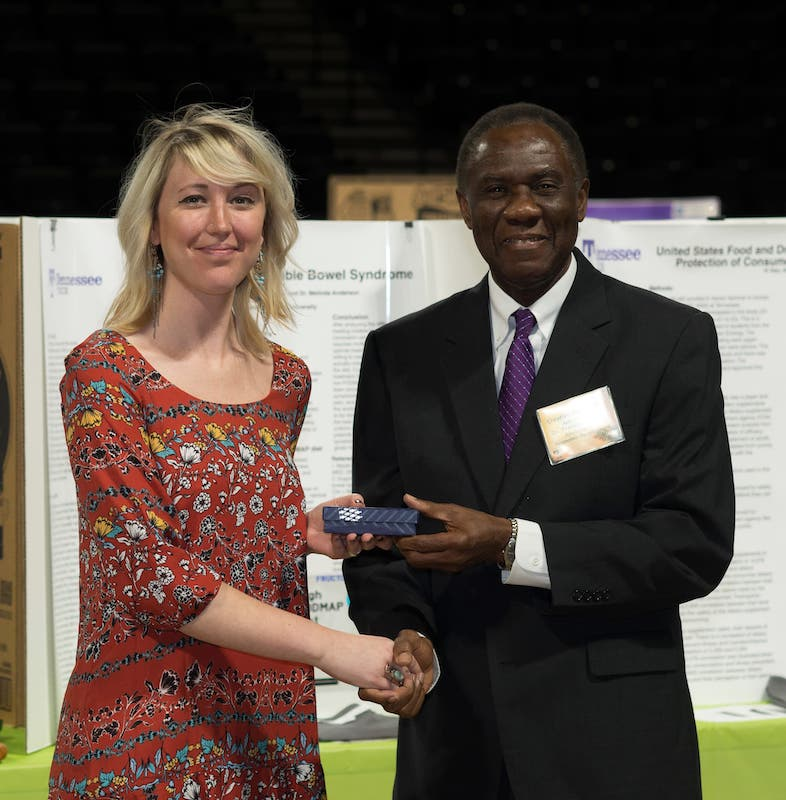 Kelsey Taylor and Dr. Francis Otuonye
