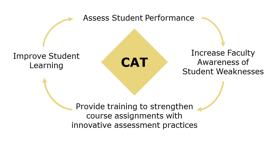 Assessing student performance allows faculty to become aware of student weaknesses. With this awareness, providing faculty training to strengthen course assignments and assessments can help improve students learning.