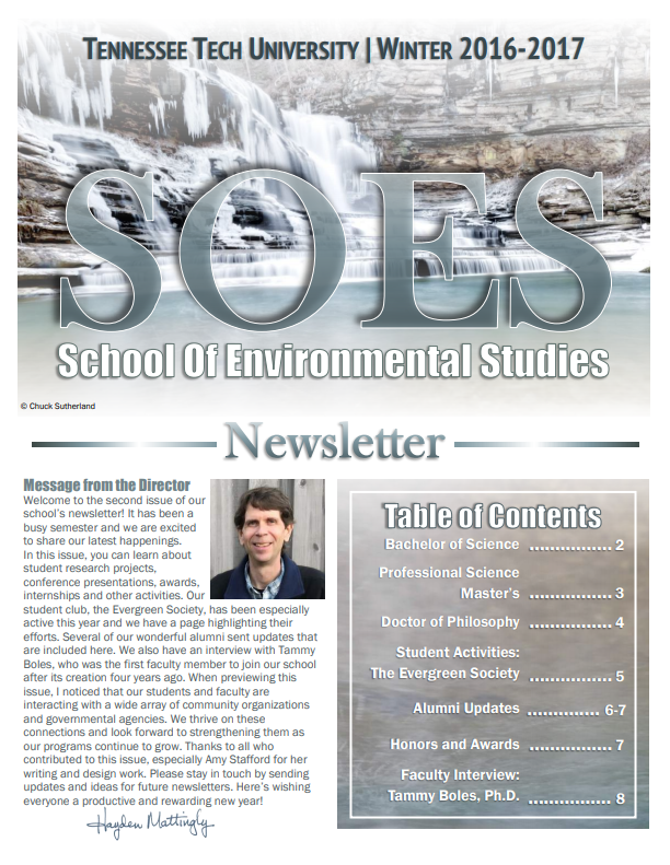 SOES Winter 2016 Cover