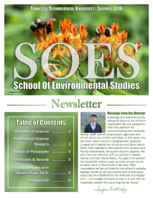 SOES Summer 2016 Cover