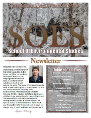 SOES Winter 2018 2019 newsletter
