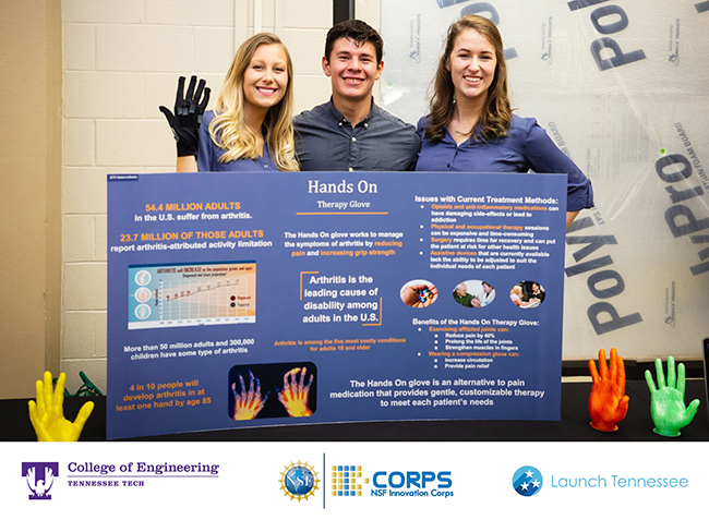 ATS innovations displays their compression strap glove invention