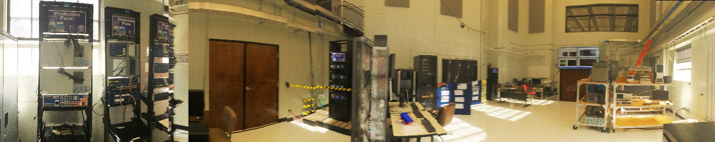 Panoramic view of the Smart Grid Lab