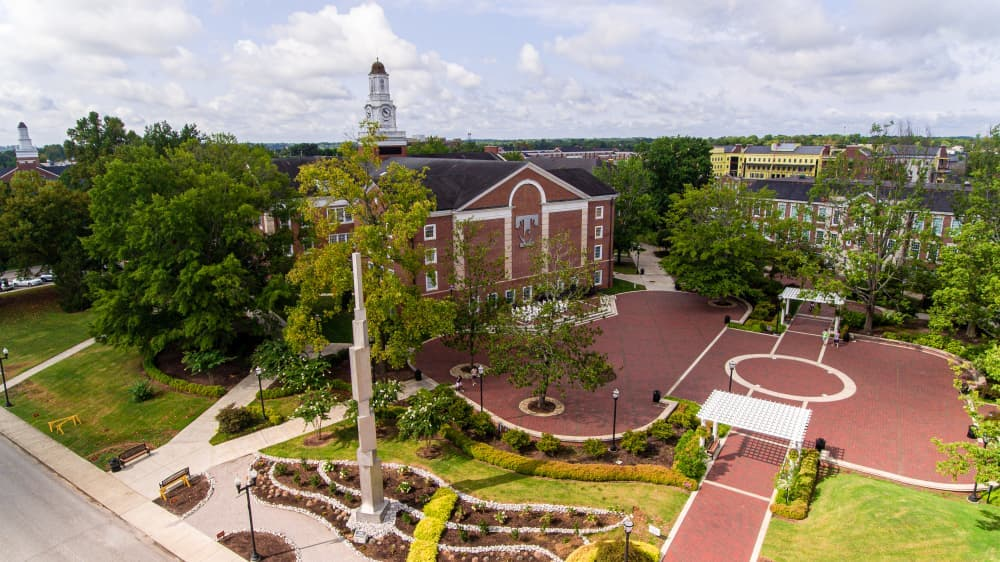Drone photo of Derryberry Hall