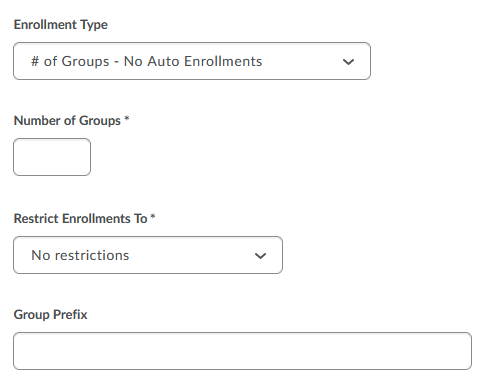 Group options and settings