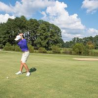 Golfer at Golf Course