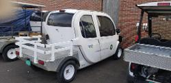 """the electric  """"Old Police Cart"""" re-purposed for our recycling program"""