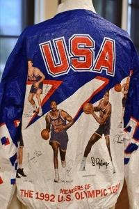 From Historic Costume Collection, 1992 U.S. Men's Olympic Basketball Team Starter Jacket