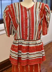 From Historic Costume Collection, 1989 Handcrafted Blouse and Skirt from West Ghana