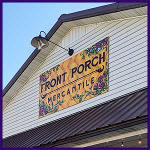 Front Porch Mercantile sign