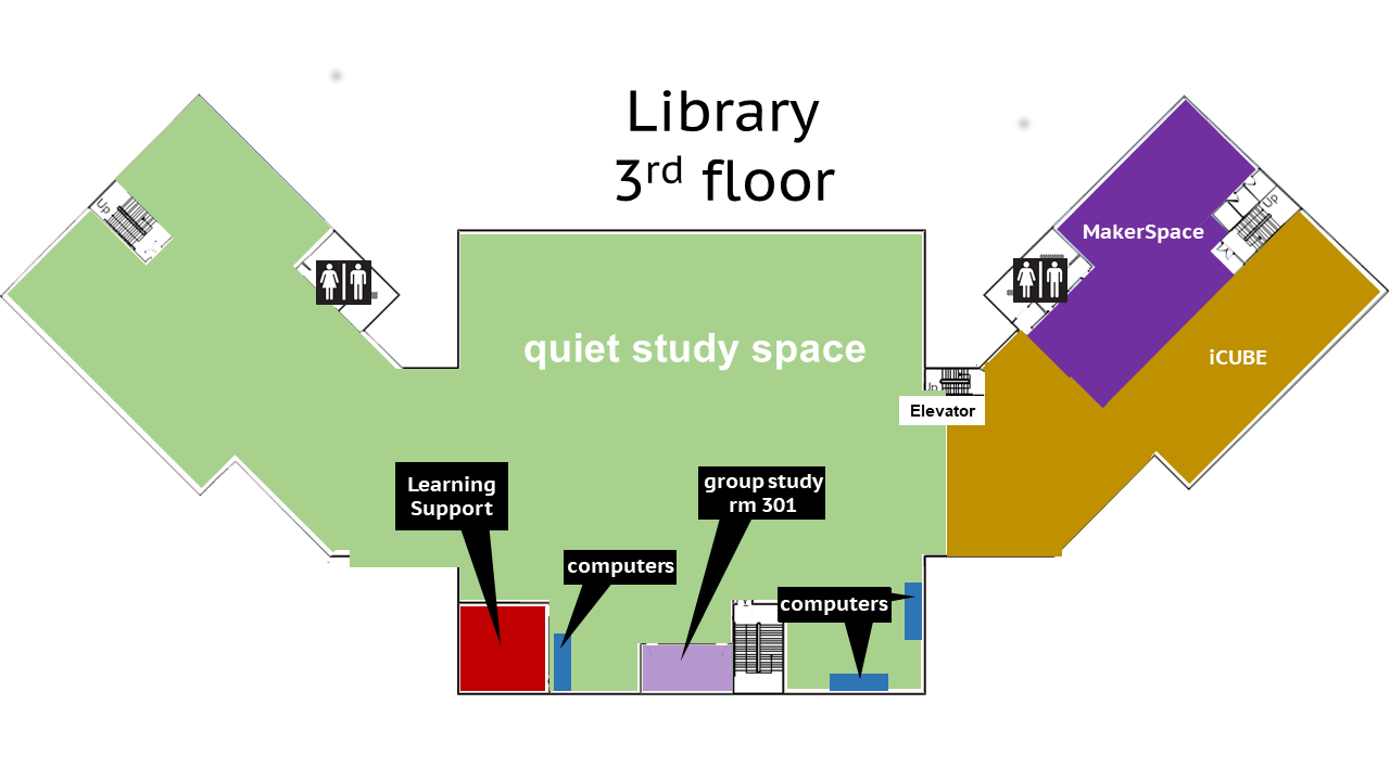 map of library third floor