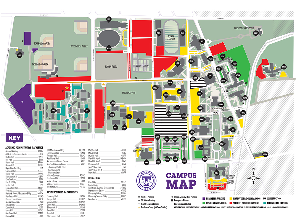tn tech campus map Explanation Of Tuition Fees tn tech campus map