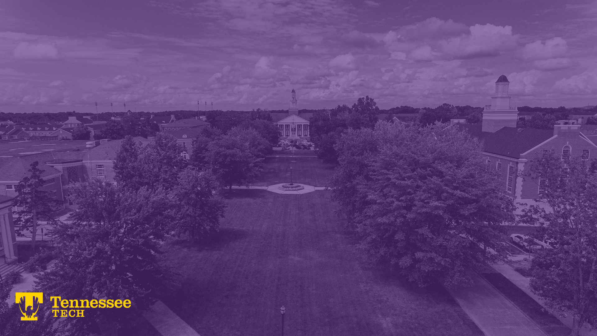 Zoom Background - Purple Campus Photo