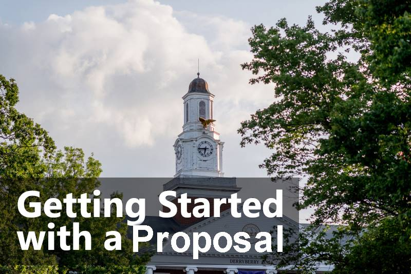 Getting Started with a Proposal