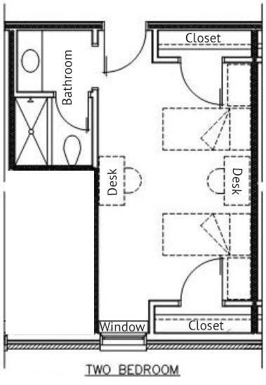 North Double Room Layout