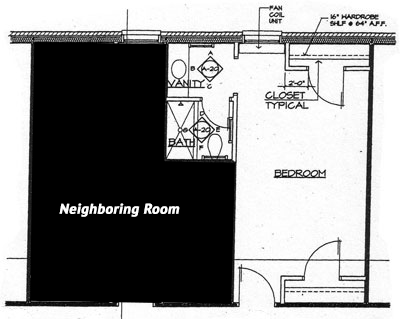 South Double Room Layout