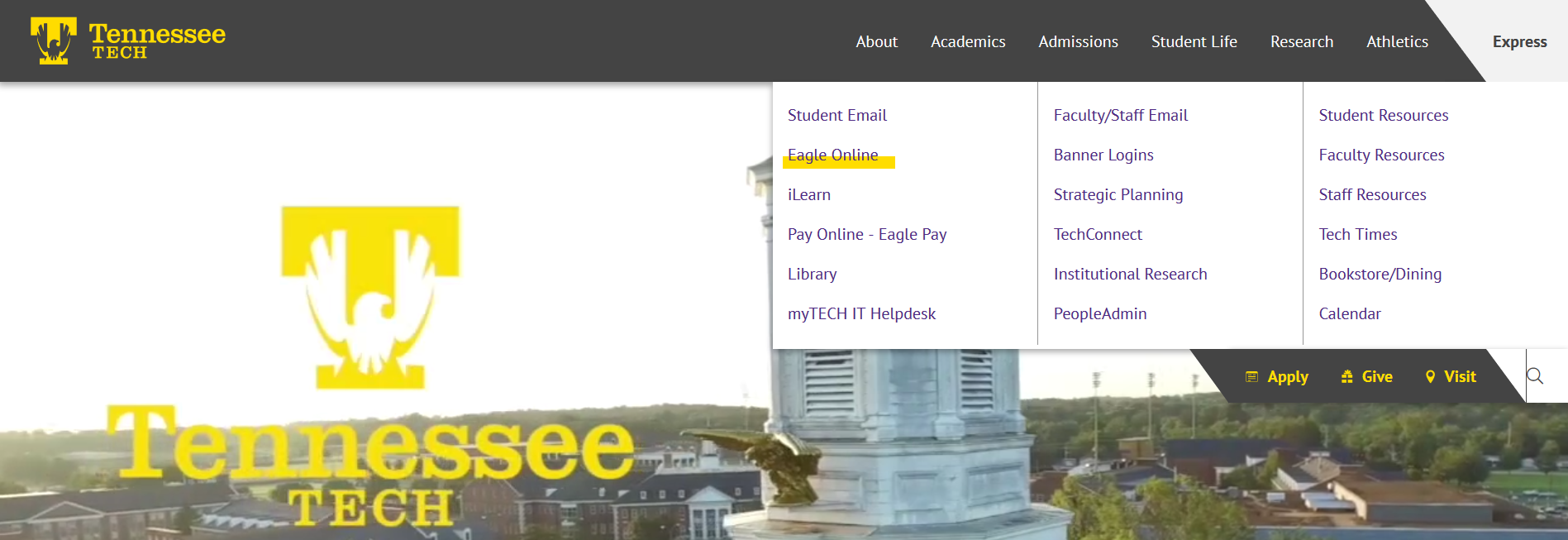 tntech.edu homepage
