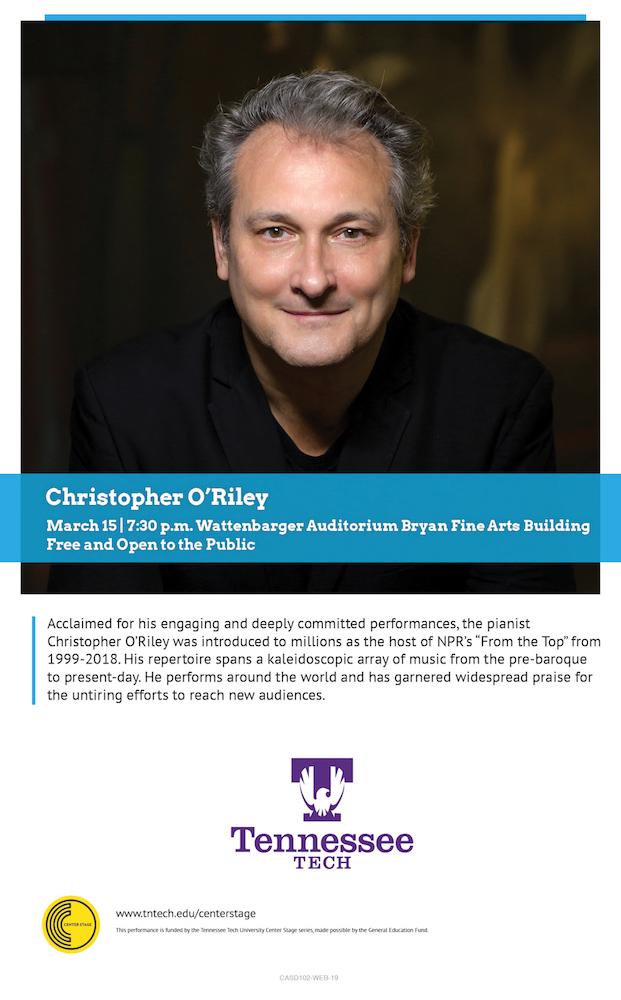 Tntech Calendar.Christopher O Riley Center Stage Guest Musician Tn Tech Calendar