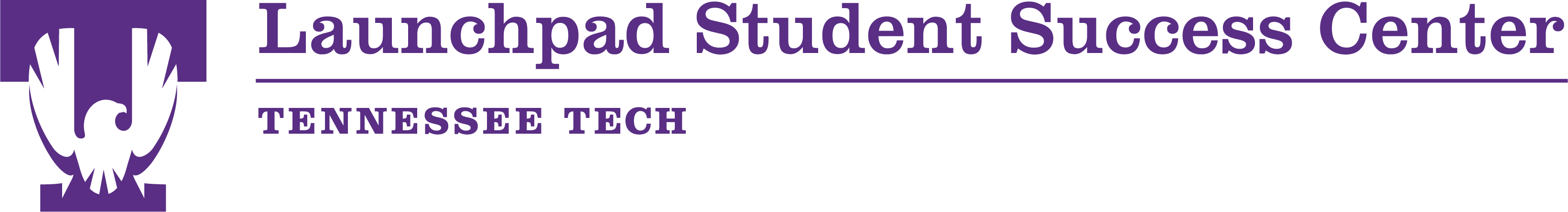 Image of the Launchpad Student Success Center logo in Purple.