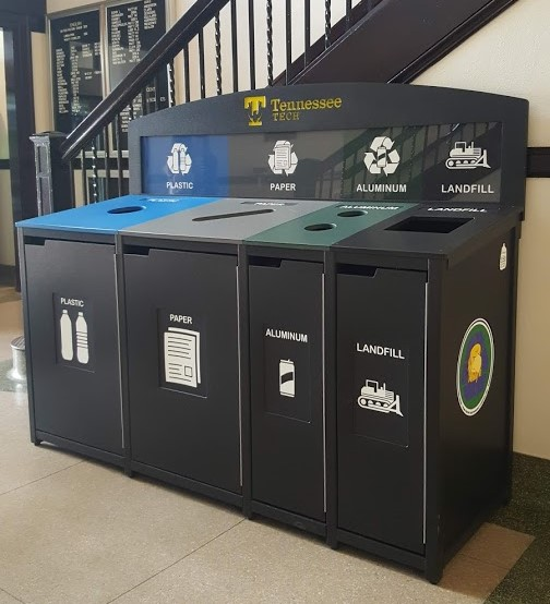 Recycling station at Henderson Hall