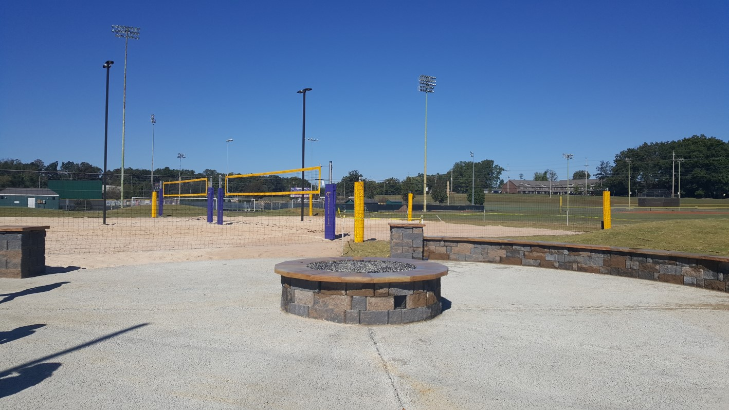 fire pit at intramural fields