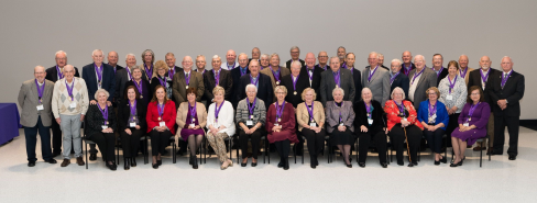Group photo of members of Class of 1969 at Medallion Ceremony, held November 7, 2019