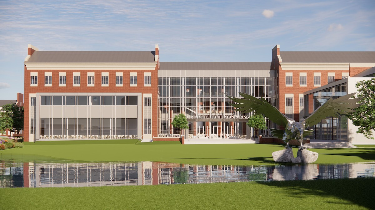 Architectural rendering of proposed engineering building design