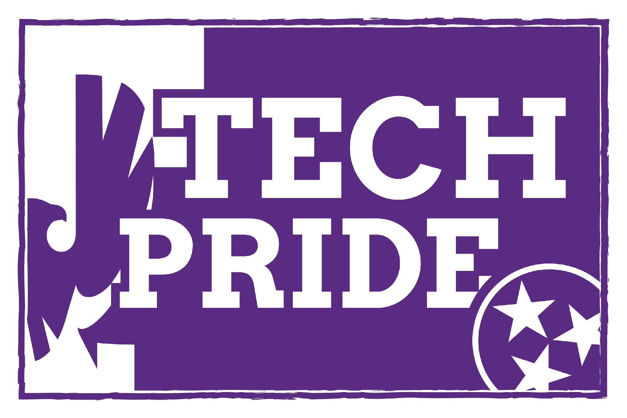 A purple and white grahic that reads Tech Pride. There is a Tech Logo on one side and the Tennessee Tri-Star on the other.