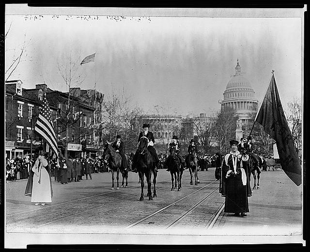 Womens suffrage parade